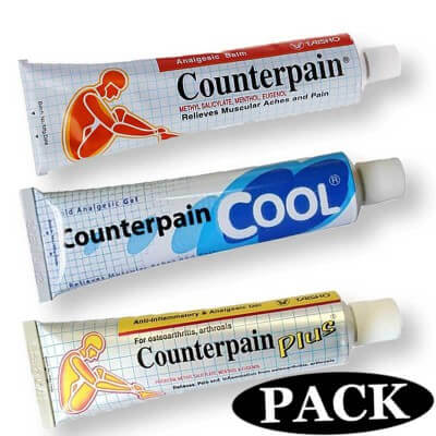 Counterpain analgesic discovery pack