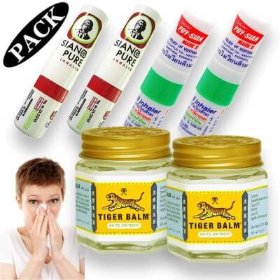Stuffy nose and nasal discomfort tiger balm pack
